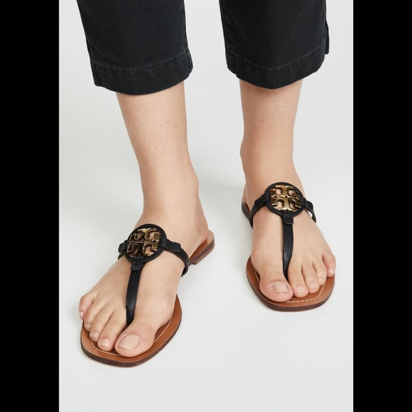 Tory Burch Shoes - Tory Burch🔴Mini Miller Leather sandals Size 10